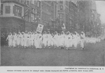 Negro nurses march in Great Red Cross Parade on Fifth Avenue, New York City