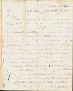 Letter from Richard Manning Chipman, Harwinton Ct., to Amos Augustus Phelps, Feb. 19th, 1839