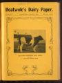 Heatwole's Dairy Paper, Volume II, Number 7, September 1907