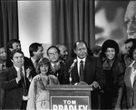 Tom Bradley and supporters, Los Angeles, ca. 1977