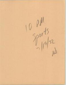 News Script: 10PM sports