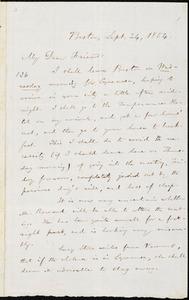 Letter from William Lloyd Garrison, Boston, [Mass.], to Samuel Joseph May, Sept. 24, 1854
