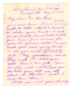 Letter from Mildred B. Jones to W. E. B. Du Bois