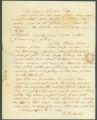 Letter from P. Bullard in Claiborne, Alabama, to James Dellet in Washington, D. C.