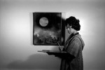 Yvonne Meo and painting of the moon
