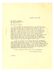 Letter from W. E. B. Du Bois to Norman Thomas