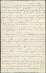 Letter from James Mott, Phil[adelphi]a, [Penn.], to Anne Warren Weston, 6 m[onth] 7th [day] 1838