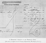 A depositor's account in the Freedman's Bank; [Facsimile of original in the Treasury Department, Washington, D.C.]
