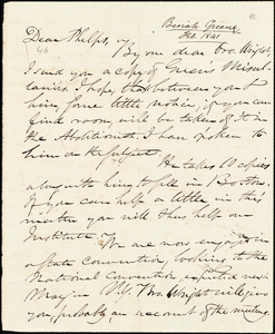 Letter from Beriah Green, to Amos Augustus Phelps, [Feb. 1841]
