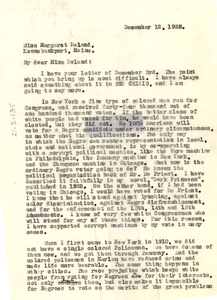 Letter from W. E. B. Du Bois to Margaret Deland