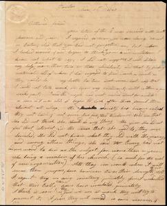 Letter from Jerusha L. Bird, Taunton, [Mass.], to Maria Weston Chapman, Nov. 1st, 1840
