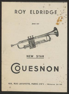 Advertisement for Roy Eldridge performing in France