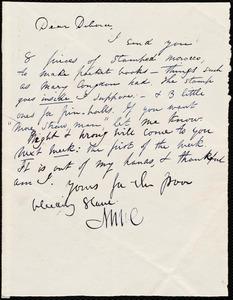 Letter from Maria Weston Chapman, [Boston?, Mass.], to Deborah Weston, [1839, ca. May 21]