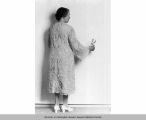 Nettie J. Asberry in Battenburg opera coat, 1941