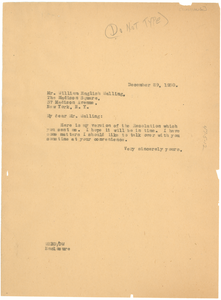 Letter from W. E. B. Du Bois to William English Walling