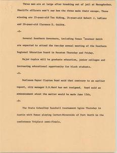 News Script: Jail, meetings, and resignations