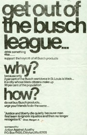 """Flier distributed by Action Against Apathy: """"Get Out of the Busch League,"""" ca. 1970"""