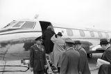 Marie Reeb (Mrs. James Reeb) boarding a U.S. presidential C-140 JetStar airplane.