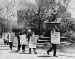 University of Pennsylvania chapter of the NAACP pickets College Hall