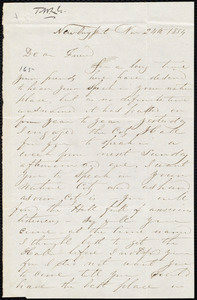 Letter from Richard Plumer, Newburyport, [Mass.], to William Lloyd Garrison, Nov[ember] 24th 1854