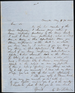 Letter from George William Perkins, Meriden, to Amos Augustus Phelps, May 7th 1846
