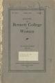 Bulletin of Bennett College for Women [April 1928, with catalog]