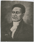 Illustrated portrait of Crispus Attucks, hero of the Boston Massacre in 1770
