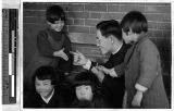 Father Timothy Pak and friends, Heijo, Korea, ca. 1930-1950
