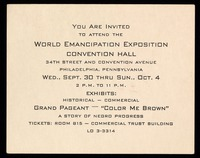 Cards. Invitation to the exposition