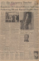 Pages from The Montgomery Advertiser featuring articles about the attack on the Freedom Riders in Montgomery.