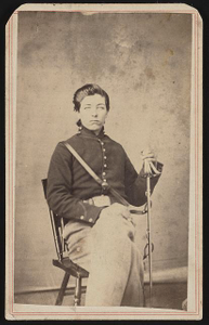 [Unidentified young soldier in Union cavalry uniform with saber]