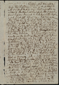 Letter from Richard Davis Webb, Dublin, [Ireland], to Maria Weston Chapman, Oct. 22, 1852