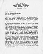 Letter, Nov. 22, A.D. 1993, Jackson, Tennessee to Lt. Governor John S. Wilder