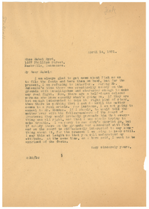 Letter from W. E. B. Du Bois to Mabel Byrd