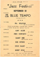 "All-Star ""Jazz Festival"" at The Blue Tempo"
