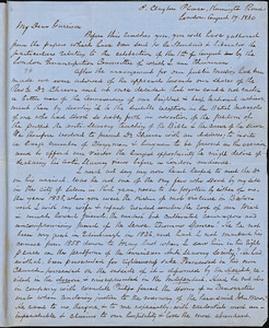 Letter from George Thompson, London, [England], to William Lloyd Garrison, 1860 August 17
