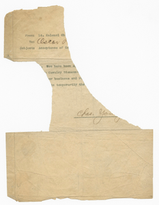 Letter to Oscar W. Price from Charles Young