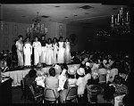 H.U. [Howard University] Mothers Day luncheon at International Inn, May 1964 [cellulose acetate photonegative]