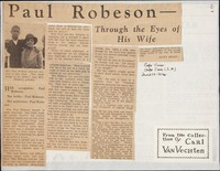 Paul Robeson through the eyes of his wife