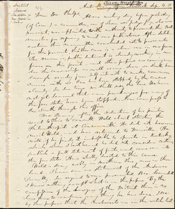 Letter from Elizur Wright, New York, to Amos Augustus Phelps, 1835 Sept[ember] 4