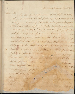 Letter from Abraham Lidden Cox, New York, [New York], to William Lloyd Garrison, 1833 Decem[ber] 12