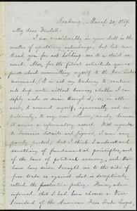 Letter from William Lloyd Garrison, Roxbury, [Mass.], to Wendell Phillips Garrison, March 20, 1869
