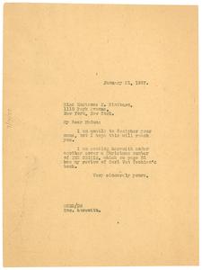 Thumbnail for Letter from W. E. B. Du Bois to Hortense N. Hintburn