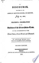 A discourse, delivered at the African meeting-house