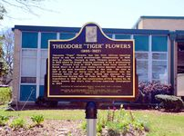 """Theodore """"Tiger"""" Flowers historical marker"""