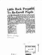 Arkansas Incidents - Newspaper Clippings, Etc.
