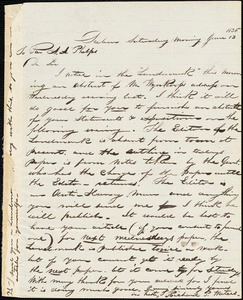 Letter from Richard Palmer Waters, Salem, [Massachusetts], to Amos Augustus Phelps, 1835 June 13