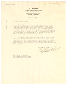 Letter from NAACP Omaha Branch to W. E. B. Du Bois