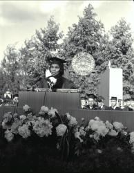 Marian Anderson delivering commencement address