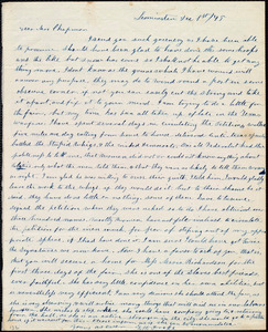 Letter from Frances H. Drake, Leominster, [Mass.], to Maria Weston Chapman, Dec. 1st / [18]45